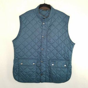 Barbour XXL Mens Navy Blue Vest Land Rover Quilted